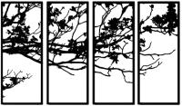 Декор настенный Arthata Осень 70x130-B / 096-4 (черный) -