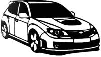 Декор настенный Arthata Автомобиль 50x95-B / 098-4 (черный) -