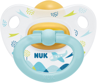 Пустышка NUK Happy Kids / 10734011 (р.2, голубой) -