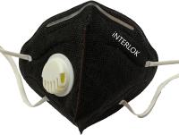 Респиратор Interlok Плюс FFP2 с клапаном (черный) -