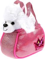Мягкая игрушка Мой питомец Пудель с короной в розовой сумочке из пайеток / CT191052R1-19 -