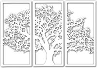 Декор настенный Arthata Дерево на закате 95x145-V / 112-3 (белый) -