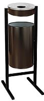 Урна уличная Титан Мета СЛП-300 (черный) -