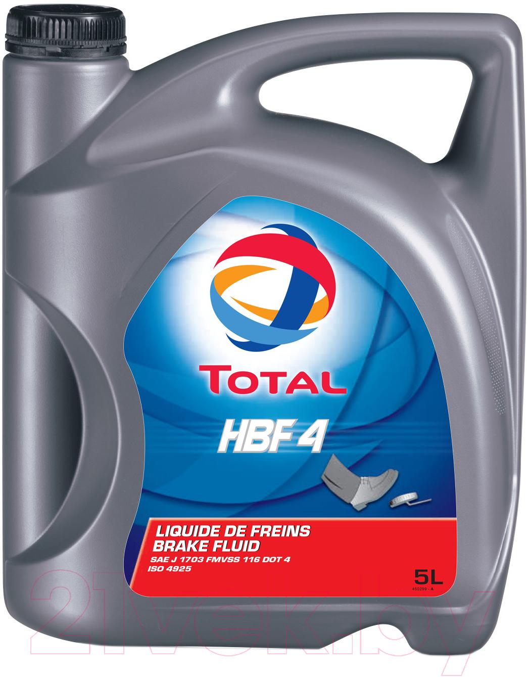 Купить Тормозная жидкость Total, HBF DOT 4 / 150511 (5л), Франция