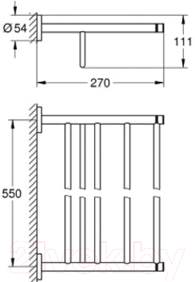 Держатель для полотенца GROHE Essentials 40800001