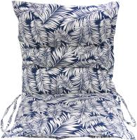 Подушка для садовой мебели Эскар Blue Palma 50x100 / 125569100 (белый/синий) -