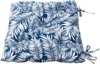 Подушка для садовой мебели Эскар Blue Palma 40x40 / 121769140 (белый/синий) -