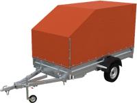 Прицеп для автомобиля Экспедиция Универсал 111734 Евро (3400x1350x300, тент/каркас 734-1300, R13, оранжевый) -