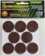 Комплект протекторов для мебели Grace Фетровые D28 (коричневый) -