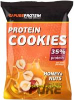 Протеиновое печенье Pureprotein 35% Protein Cookies (80г, мед и орехи) -