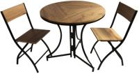 Комплект садовой мебели Domm MY0001K (дуб) -