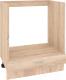 Шкаф под духовку Кортекс-мебель Корнелия Ретро НШ60д (дуб сонома) -