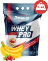 Протеин Geneticlab Whey Pro 100% (2100г, банан-земляника) -