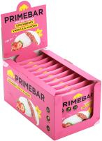 Протеиновое печенье Prime Kraft Primebar (10x35г, клубника, ваниль и миндаль в йогуртовой глазури) -