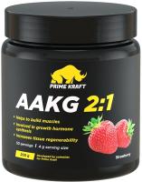 Аминокислоты Prime Kraft AAKG 2:1 (200г, клубника) -
