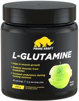 L-глютамин Prime Kraft L-Glutamine (200г, зеленое яблоко) -