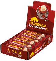 Протеиновые батончики Prime Kraft Primebar Superfood Клубнично-банановый десерт с семенами чиа (12x40г) -