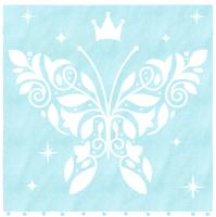 Полотенце Нордтекс Облачко Бабочка МХ42 100/100 (нежно-бирюзовый/белый) -