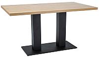 Обеденный стол Signal Sauron 120x80 (дуб натуральный/черный) -