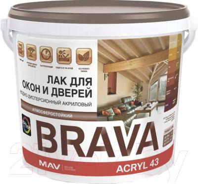 Лак MAV Brava ВД-АК-1043 (1л, полуматовый)