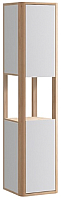 Шкаф-пенал для ванной Belux Альмерия ПН35 (137, белый глянец/натурал.клен, правый) -
