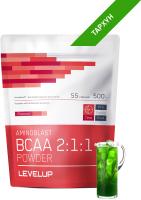 Аминокислоты LevelUp Aminoblast BCAA Powder / LU174 (500г, тархун) -