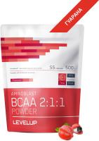 Аминокислоты LevelUp Aminoblast BCAA Powder / LU46 (500г, гуарана) -