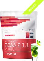 Аминокислоты LevelUp Aminoblast BCAA Powder Бешеная сушка / LU192 (500г, мохито) -