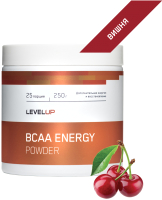 Аминокислоты LevelUp BCAA Energy / LU47 (250г, вишня) -