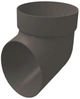 Колено для водостока Grand Line ПВХ сливное RAL 7024 (графит) -