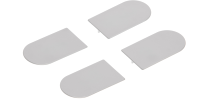 Комплект накладок на скрытые петли AGB Eclipse 3.0 (серый) -