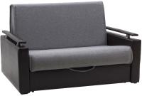 Кресло-кровать Лион Чарм 0.9 (Elegance Com Grey/Oregon Black) -
