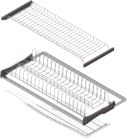 Сушилка для посуды встраиваемая Starax S-5162-СР (с алюминиевой рамкой/окраска хром) -