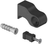 Крепежная фурнитура для рейлинга Starax S-4085-B (черный) -