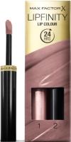 Набор декоративной косметики Max Factor Lipfinity Помада Lip Colour+Блеск Moisturising Top Coat тон 015 -