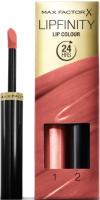 Набор декоративной косметики Max Factor Lipfinity Помада Lip Colour+Блеск Moisturising Top Coat тон 144 -