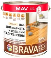 Лак MAV Brava Alkyd 2122 (3л, бесцветный матовый) -