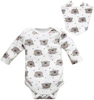 Комплект одежды для новорожденных Amarobaby Soft Hugs Коалы / AMARO-ODSH201-Ko-74 (белый, р. 74) -