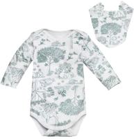 Комплект одежды для новорожденных Amarobaby Soft Hugs Лесная сказка / AMARO-ODSH201-LS-80 (зеленый, р. 80) -