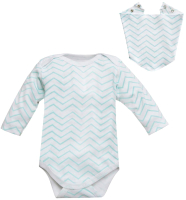 Комплект одежды для новорожденных Amarobaby Soft Hugs Зигзаг / AMARO-ODSH201-ZIM-56 (мятный, р. 56) -