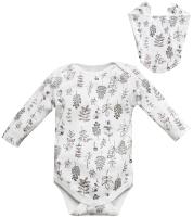 Комплект одежды для новорожденных Amarobaby Soft Hugs Растения / AMARO-ODSH201-Ra-80 (белый, р. 80) -