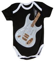 Боди для младенцев Amarobaby Rock Baby / AMARO-ODR101-68 (черный, р. 68) -