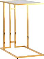 Приставной столик Stool Group Бостон 50x32 / EET-061-TG-SK (стекло Smoke/сталь золото) -
