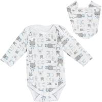 Комплект одежды для новорожденных Amarobaby Soft Hugs Зайчики / AВ-OD20-SHZ201/00-74 (белый, р. 74) -