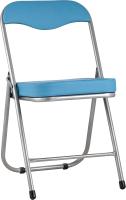 Стул Stool Group Джон складной / RS04K-908-05 (металлик/экокожа голубой) -