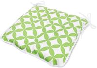 Подушка для садовой мебели Эскар Green Round 40x40 / 112151140 (белый/зеленый) -