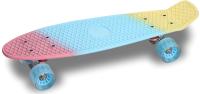 Пенни борд Indigo LS-P2206B (розовый/синий/желтый) -