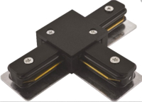 Коннектор для шинопровода JAZZway PTR CT-BL / 5010857 (черный) -