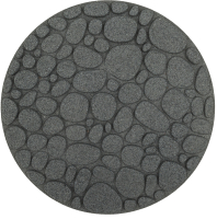 Плитка садовая Orlix Round River Rock EU5000093-4 (4шт, серый) -