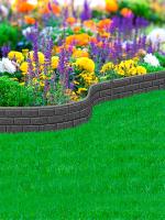 Бордюр садовый Orlix Bricks EU5000164-6 (6шт, серый) -